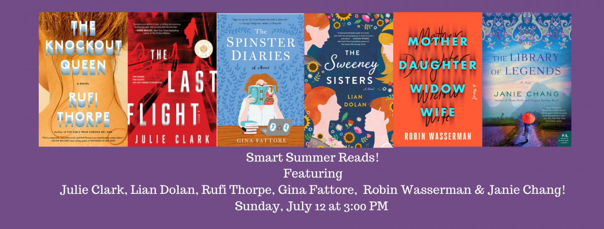 Smart Summer Reads Six Authors and Book Covers July 2020