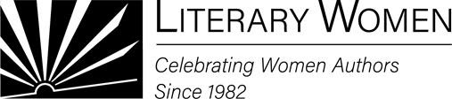 Literary Women of Long Beach logo -- book open to resemble rays