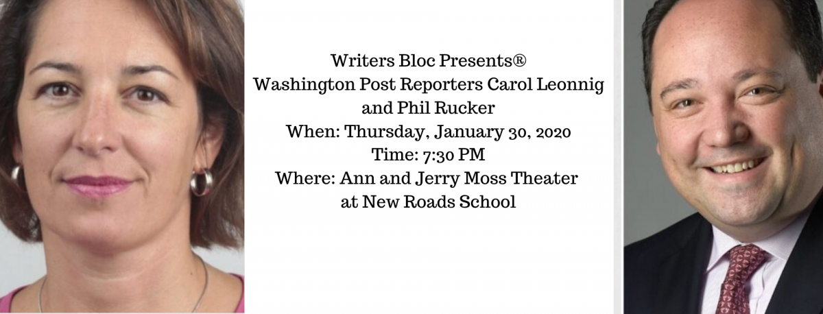Phil Rucker and Carol Leonnig Writers Bloc Event